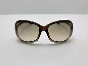 Tom Ford Jennifer Women's Transparent Dark Brown Sunglasses  61  [ ] 16mm
