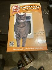 "New Ideal Large Chubby Kat Pet Cat Door Flap Size 7 1/2"" x 10 1/2"" Up To 25lbs"