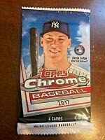 2017 Topps Chrome Baseball Factory Sealed Hobby Pack - 4 Cards