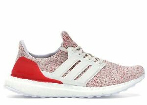Women's Adidas UltraBoost 4.0 Running Shoes White / Action Red Size 6 (DB3209)