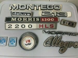 Vintage Car Badge Collection MORRIS MONTEGO ALLEGRO BRITISH LEYLAND