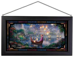 Thomas Kinkade Studios Tangled 13 x 23 Framed Stained Glass