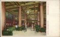 Rochester NY Hotel Rochester Lobby Promo Adv c1910 Psotcard EXC COND