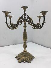 Vintage Oppenhein Israel 5 Candle Candelabra