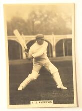 1928 MILLHOFF Test Cricket Card No 1 of 27 - T J ANDREW Card in Very Fine Cond.