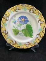 English Garden Gold Rimmed 10.5 Dinner Plate Andrea by Sadek After museum pc