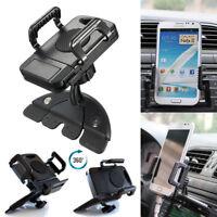 Universal 360° Car CD Slot Holder Mount Cradle Clip Stand For Mobile Phone GPS
