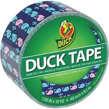 "6 Pk Duck Tape 1.88"" x 10 Yd X 9 mil Whale of a Time Printed Duct Tape 284169"