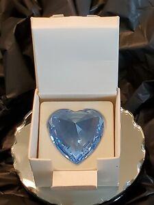 Swarovski Crystal Heart SCS Blue With Original Box Packaging
