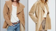 Free People Cocoon Lambskin Suede Shawl Jacket Coat Reversible Small  $1800