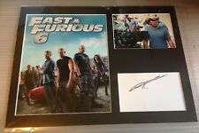 [A0712] Justin Lin Fast and Furious Signed 12x16 Display AFTAL
