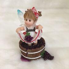 "My Little Kitchen Fairies #4017380 ""Grape Stomper Fairie"" Enesco 2009 *Rare"