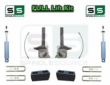 "3.5"" / 3"" Spindle Block LIFT Kit rear Shocks, fits 2007 - 18 Toyota Tundra 2WD"