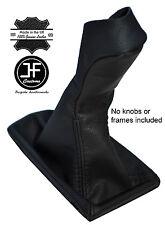BLACK & BLACK LEATHER MANUAL GEAR KNOB GAITER COVER FITS MERCEDES E CLASS W211