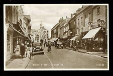 Sussex CHICHESTER South St PPC pub Valentine Hercules bicycle shop c1930s?