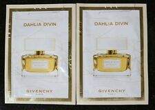 LOT OF TWO DAHLIA DIVIN GIVENCHY WOM EAU DE PARFUM MADE FRANCE SAMPLE 2 X1ML.NEW
