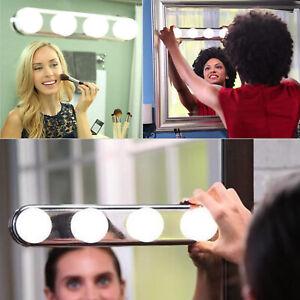 Make Up Mirror 4 LED Lights Kit Bulbs Vanity Light Lamp Hollywood Dressing Table