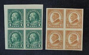 CKStamps: US Stamps Collection Scott#575 576 Block Mint NH OG