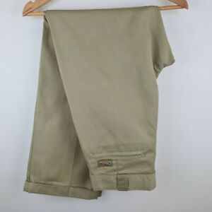 Dickies Original Fit Trousers Khaki Beige Stone Carpenter - Mens W32 L32