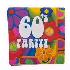 1960's / Decade Party Supplies Retro Peace, Love, Flowers Lunch Dinner Napkins