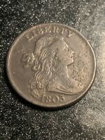 1803 Draped Bust Large Cent Small Date Large Fraction Amazing Details Ch AU!!!