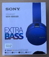 Sony MDR-XB950B1 Extra Bass Headband Wireless Headphones - Blue