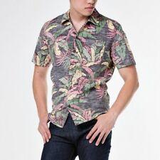 Nuevo Levi's Hombre Corte Clásico Hawaiian Manga Corta Floral Negro Camisa XL
