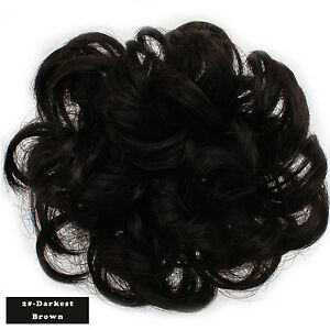 OneDor Synthetic Curly Elastic Hair Band Hair Bun Extension Hairpiece Scrunchie