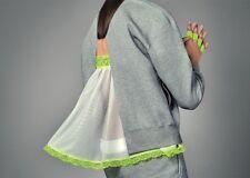NikeLab x Sacai Tech Fleece Crew Wmns Sweatshirt Grey Size L/XL New 100% Genuine