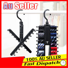 Adjustable 360° Rotating 20 Tie Belt Scarf Compact Home Hanger Rack Holder