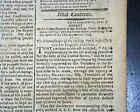 President GEORGE WASHINGTON Letters Signed in Script Type 1796 Boston Newspaper