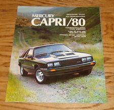 Original 1980 Mercury Capri Sales Brochure 80 RS Turbo Ghia