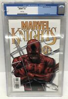 Marvel Knights #1 CGC 9.8 Joe Quesada Daredevil White Pages Marvel Comics