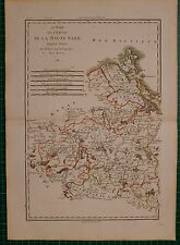 1788 DATED RIGOBERT BONNE MAP ~ HIGH SAXONY NORTHERN SECTION BRANDENBURG