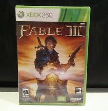 Xbox 360 FABLE III 3 Video Game New Sealed Not for Resale