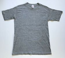 Vintage 80's Heather Gray Tri Blend Rayon Blank T-Shirt Jerzees Russell (S/M)