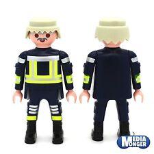 playmobil® Feuerwehr Figur: Feuerwehrmann | Firefighter | grau mit Brille