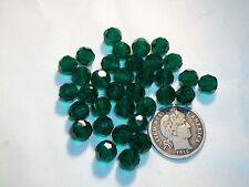 12 Vintage Czech Glass 5mm Beads Emerald