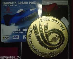 DUBAI ( UAE ) , BRONZE MEDAL OF EMIRATES GRAND PRIX 1995 IN ORIGINAL BOX  , RARE