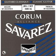 Savarez 500AJ Corum Blue Alliance Hard S/Plated Classical Guitar Nylon Strings