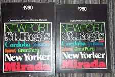 1980 Chrysler ASPEN CORDOBA MIRADA NEW YORKER NEWPORT Service Shop Manual Set X