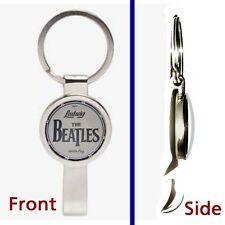 The Beatles Drum Kit Pennant or Keychain silver tone secret bottle opener