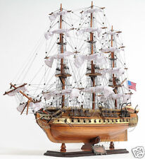 """USS Constitution Wooden Tall Ship Model 29"""" Old Ironsides Fully Assembled New"""