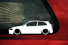 2x LOW Mitsubishi Colt / Mirage cyborg (5th) outline Silhouette stickers,Decals