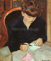 BONNARD PIERRE FRENCH 1867 1947 ARTIST PAINTING OIL CANVAS REPRO WALL ART DECO