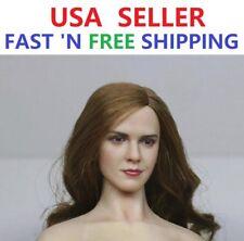 1/6 scale Emma Watson head sculpt for 12'' Female Doll PALE Phicen