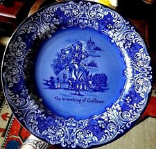 Very Rare Royal Doulton FLow Blue The Searching of Gulliver Large Plate