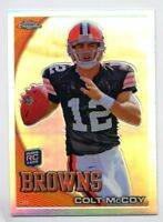 2010 Topps Chrome COLT McCOY Rookie Card RC REFRACTOR #C70 New York Giants