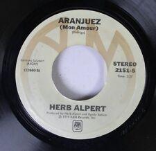 Rock 45 Herb Alpert - Aranjuez / Rise On Almo Music Corp