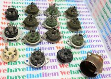 7 PIN ASSORTED TUBE SOCKETS / 15 PIECES (qzty)